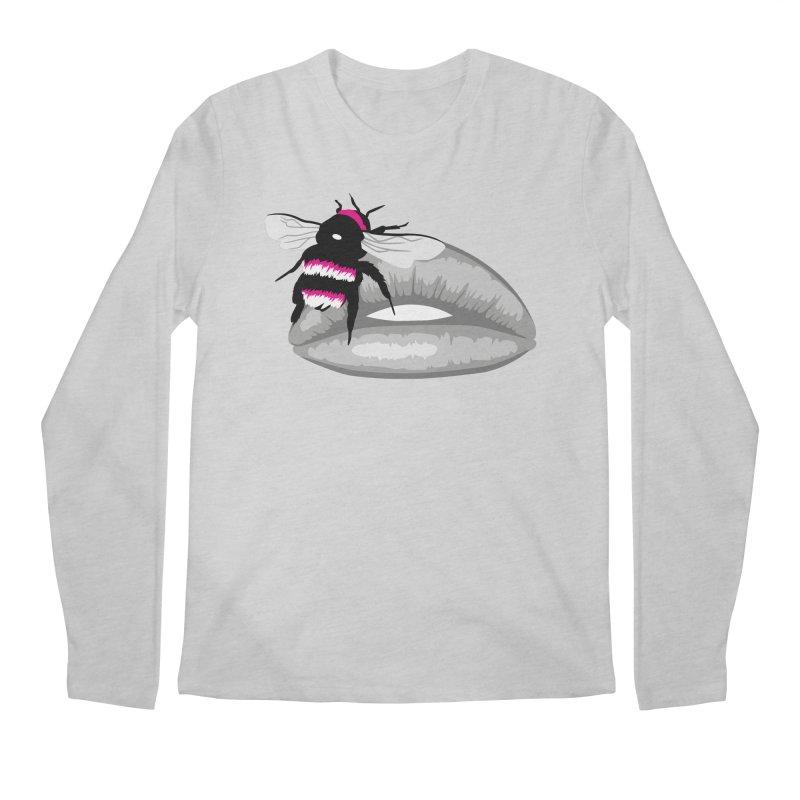 Bee-Stung Lips Men's Regular Longsleeve T-Shirt by ym graphix's Artist Shop