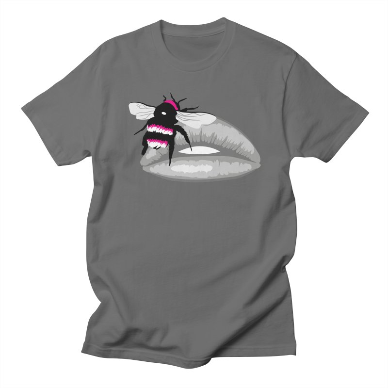 Bee-Stung Lips Men's Regular T-Shirt by ym graphix's Artist Shop