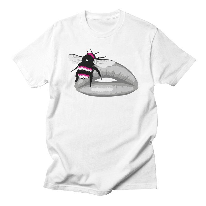 Bee-Stung Lips Women's Regular Unisex T-Shirt by ym graphix's Artist Shop