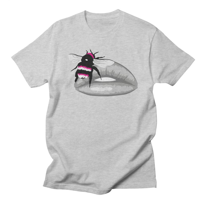Bee-Stung Lips Men's T-Shirt by ym graphix's Artist Shop