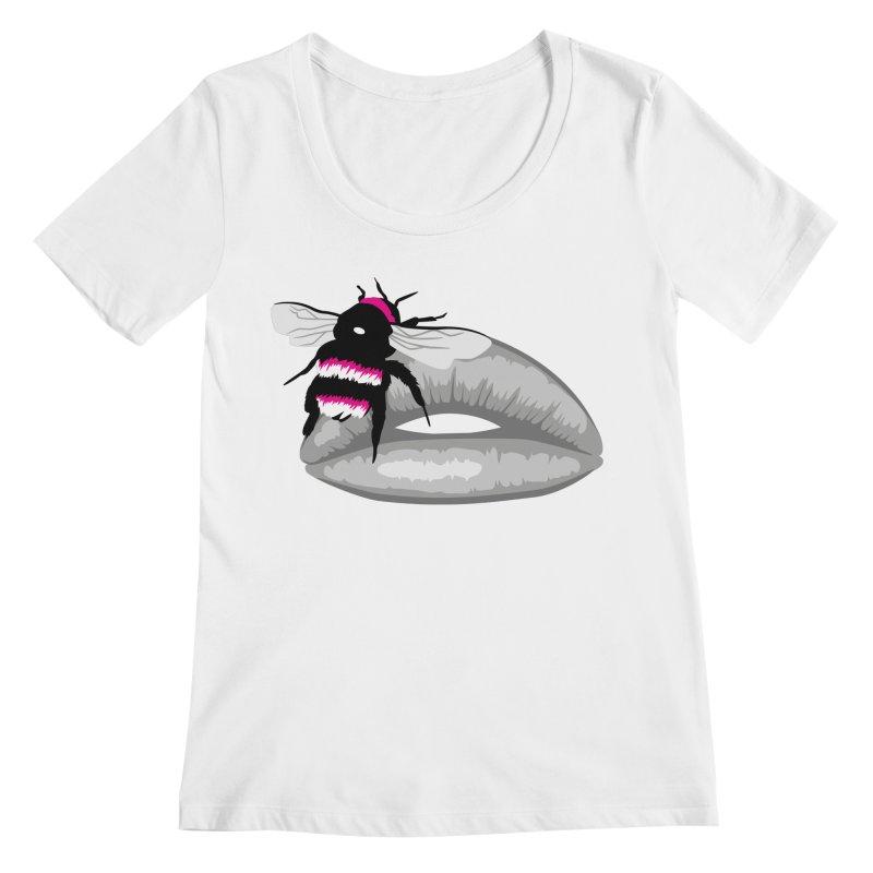 Bee-Stung Lips Women's Regular Scoop Neck by ym graphix's Artist Shop