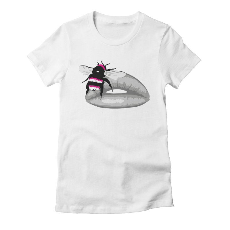Bee-Stung Lips Women's Fitted T-Shirt by ym graphix's Artist Shop