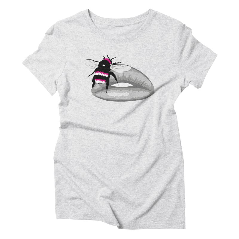 Bee-Stung Lips Women's Triblend T-Shirt by ym graphix's Artist Shop