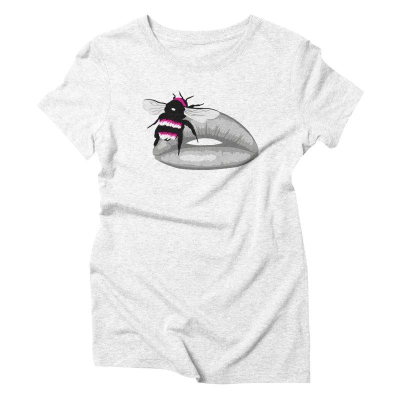 Bee-Stung Lips Women's Triblend T-shirt by ym graphix's Artist Shop
