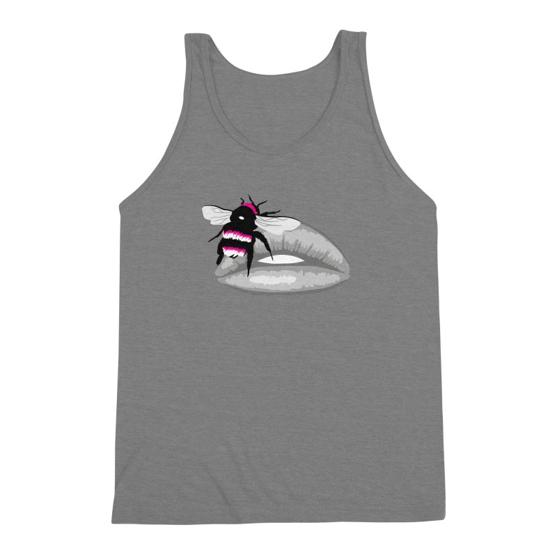 Bee-Stung Lips Men's Triblend Tank by ym graphix's Artist Shop