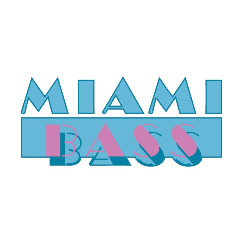 Miami Bass Men's T-Shirt by ym graphix's Artist Shop