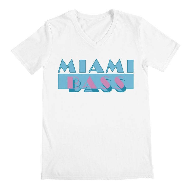 Miami Bass Men's V-Neck by ym graphix's Artist Shop