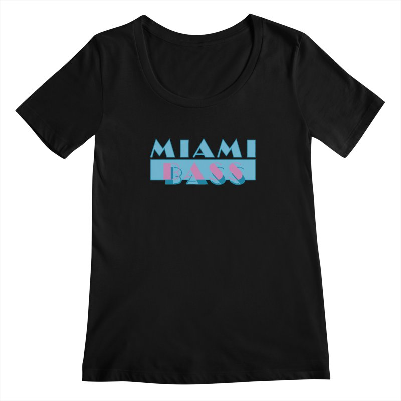 Miami Bass Women's Scoopneck by ym graphix's Artist Shop