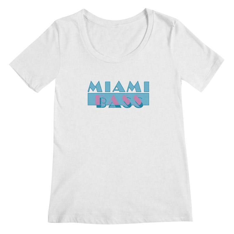 Miami Bass Women's Regular Scoop Neck by ym graphix's Artist Shop