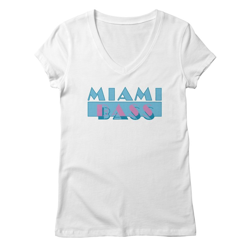Miami Bass Women's V-Neck by ym graphix's Artist Shop