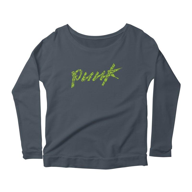 Cyber Punk Women's Longsleeve Scoopneck  by ym graphix's Artist Shop