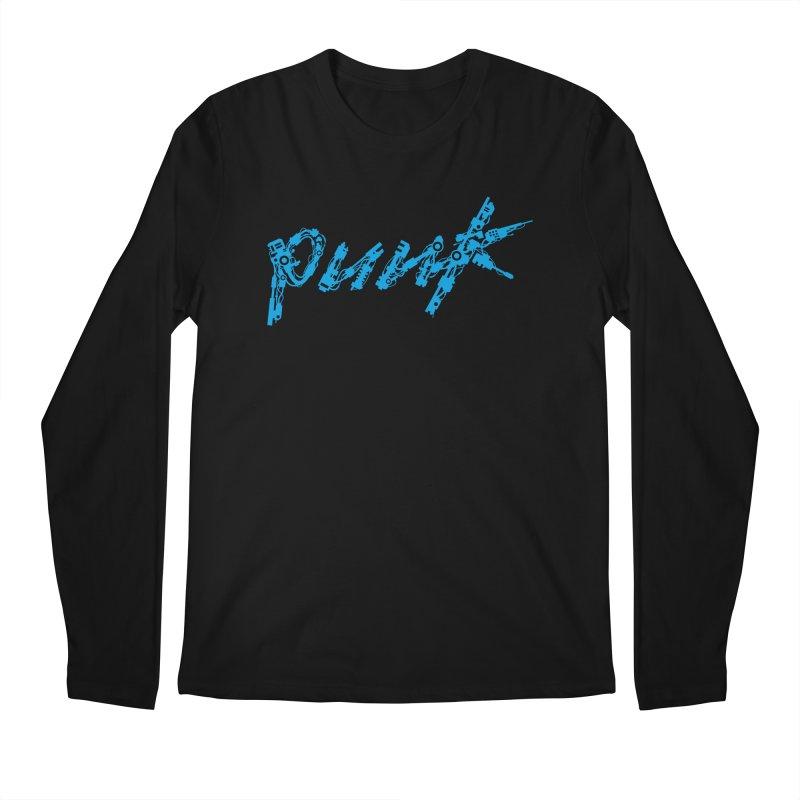 Cyber Punk (Blue) Men's Longsleeve T-Shirt by ym graphix's Artist Shop