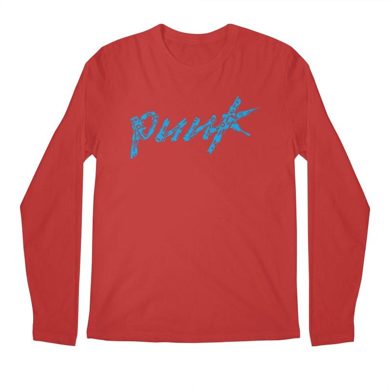 Cyber Punk (Blue) Men's Regular Longsleeve T-Shirt by ym graphix's Artist Shop
