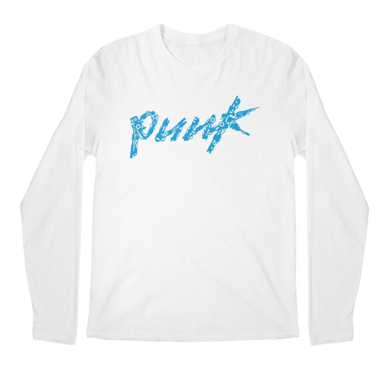 Cyber Punk (Blue) Men's Regular Longsleeve T-Shirt by ym graphix's Artist Shop