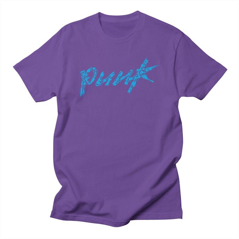 Cyber Punk (Blue) Women's Regular Unisex T-Shirt by ym graphix's Artist Shop