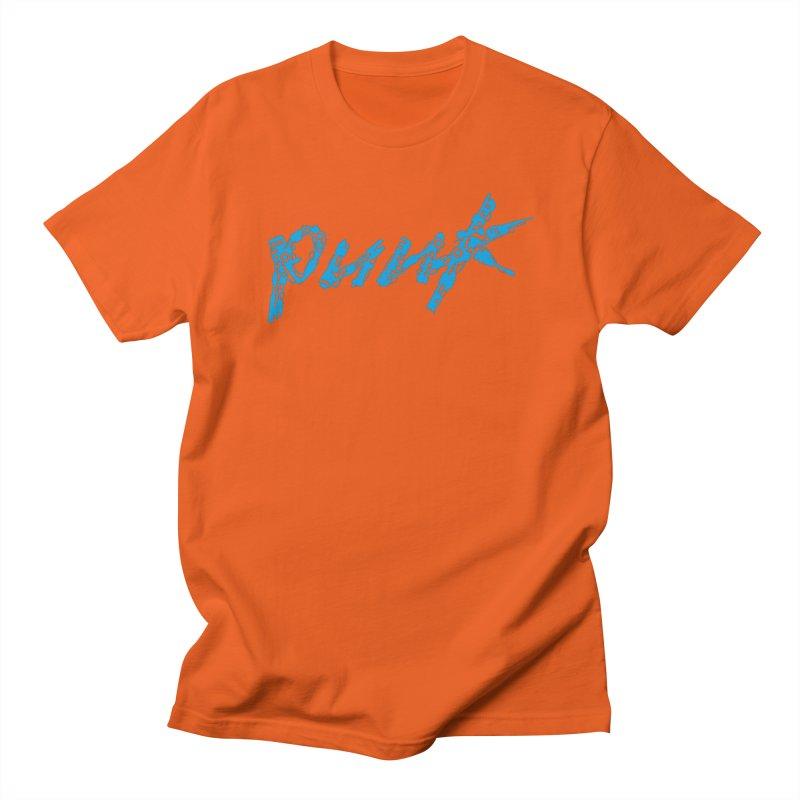 Cyber Punk (Blue) Men's Regular T-Shirt by ym graphix's Artist Shop