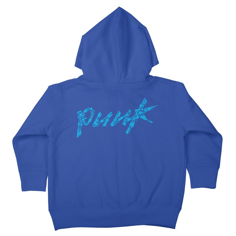 Cyber Punk (Blue) Kids Toddler Zip-Up Hoody by ym graphix's Artist Shop