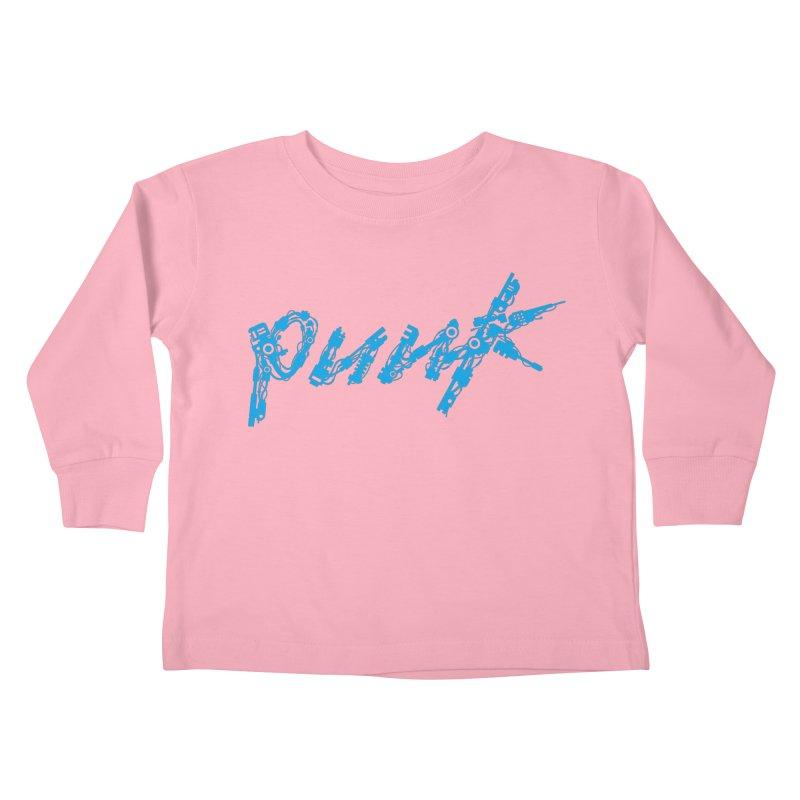 Cyber Punk (Blue) Kids Toddler Longsleeve T-Shirt by ym graphix's Artist Shop