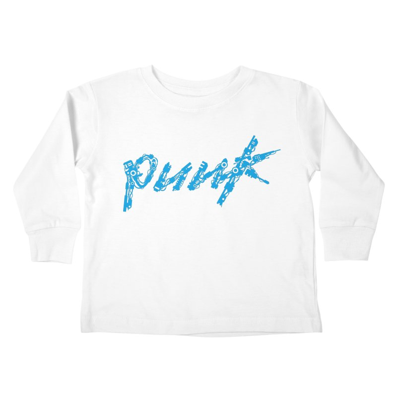 Cyber Punk (Blue) Kids Toddler Longsleeve T-Shirt by ym graphix's Artist Shop