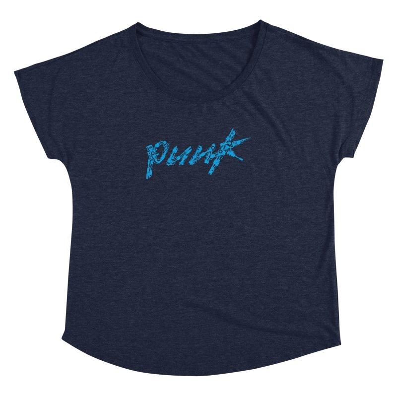 Cyber Punk (Blue) Women's Dolman Scoop Neck by ym graphix's Artist Shop