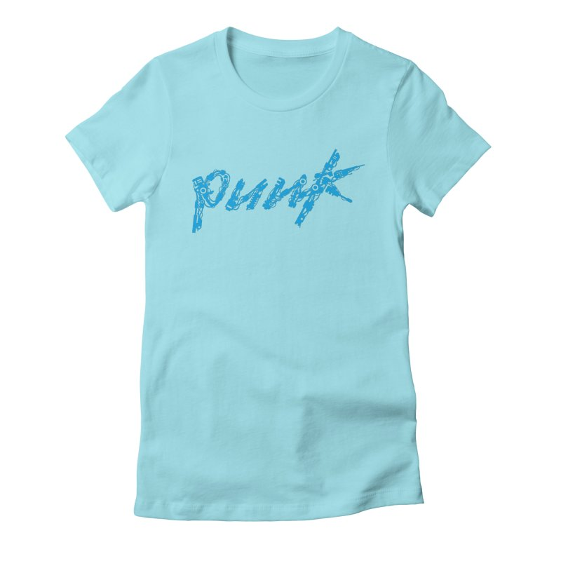 Cyber Punk (Blue) Women's Fitted T-Shirt by ym graphix's Artist Shop
