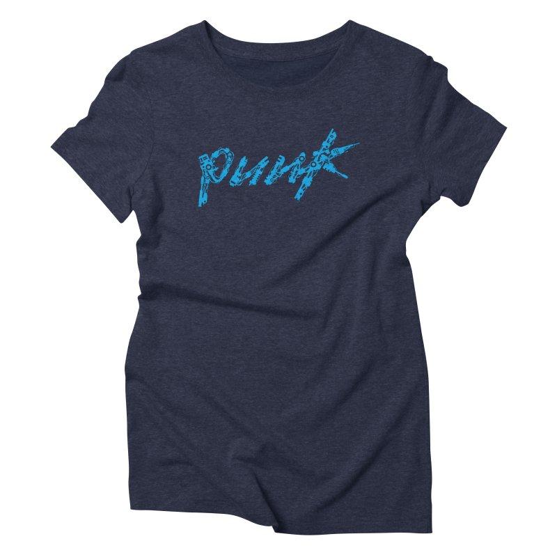 Cyber Punk (Blue) Women's Triblend T-Shirt by ym graphix's Artist Shop