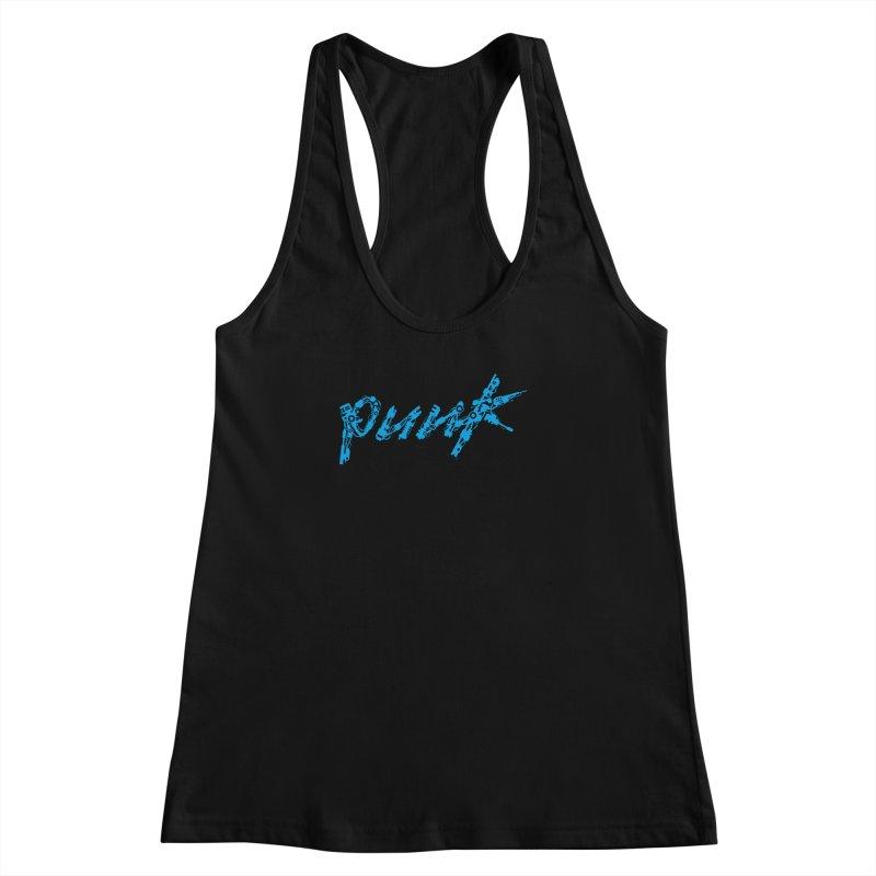 Cyber Punk (Blue) Women's Racerback Tank by ym graphix's Artist Shop