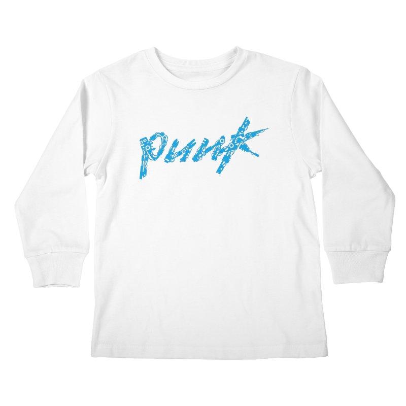Cyber Punk (Blue) Kids Longsleeve T-Shirt by ym graphix's Artist Shop