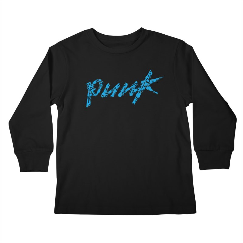Cyber Punk (Blue) Kids Longsleeve T-Shirt by ym graphix's Artist Shop