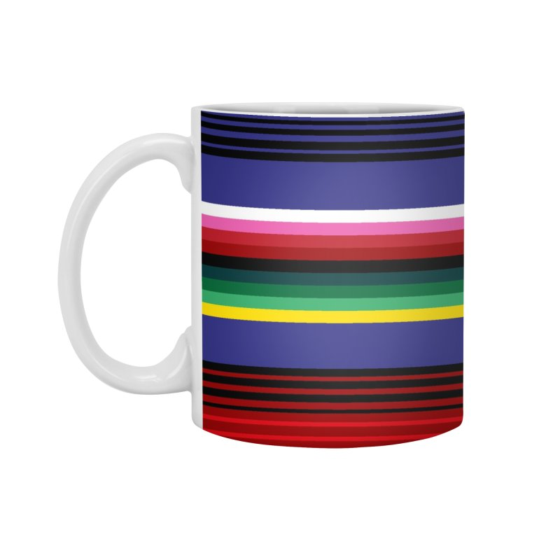 Mexican Stripes Accessories Mug by ym graphix's Artist Shop