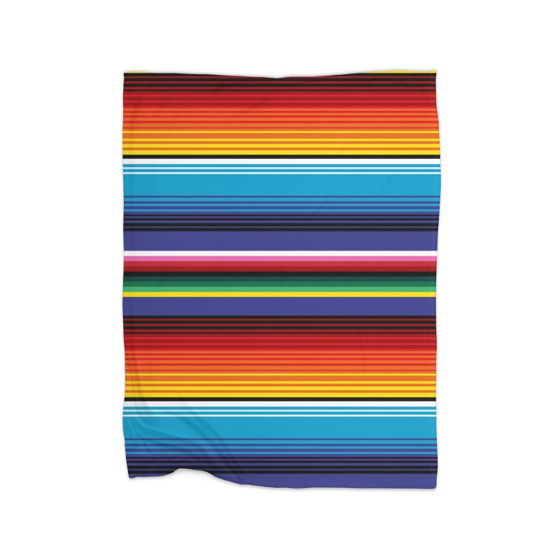 Mexican Stripes Home Fleece Blanket Blanket by ym graphix's Artist Shop