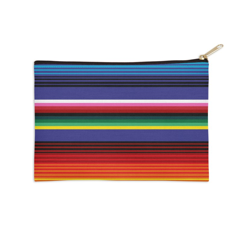 Mexican Stripes Accessories Zip Pouch by ym graphix's Artist Shop