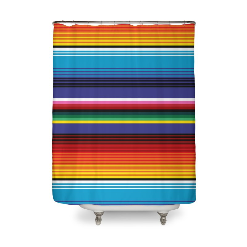 Mexican Stripes Home Shower Curtain by ym graphix's Artist Shop