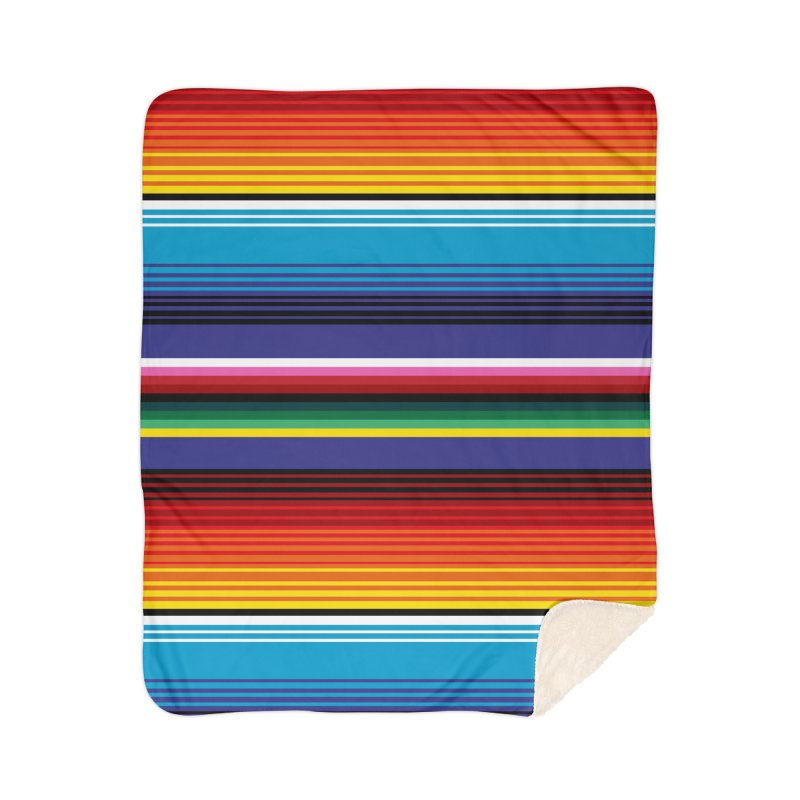 Mexican Stripes Home Sherpa Blanket Blanket by ym graphix's Artist Shop
