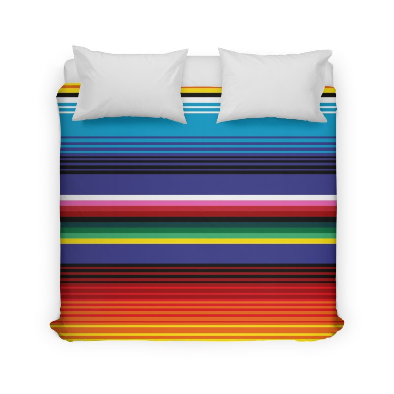Mexican Stripes Home Duvet by ym graphix's Artist Shop