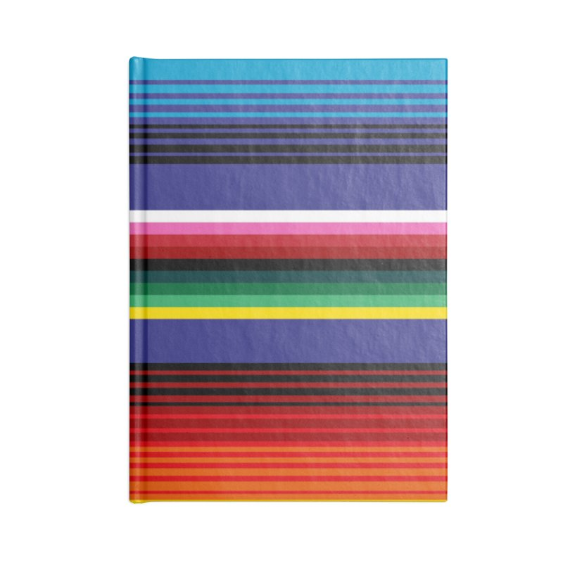 Mexican Stripes Accessories Notebook by ym graphix's Artist Shop