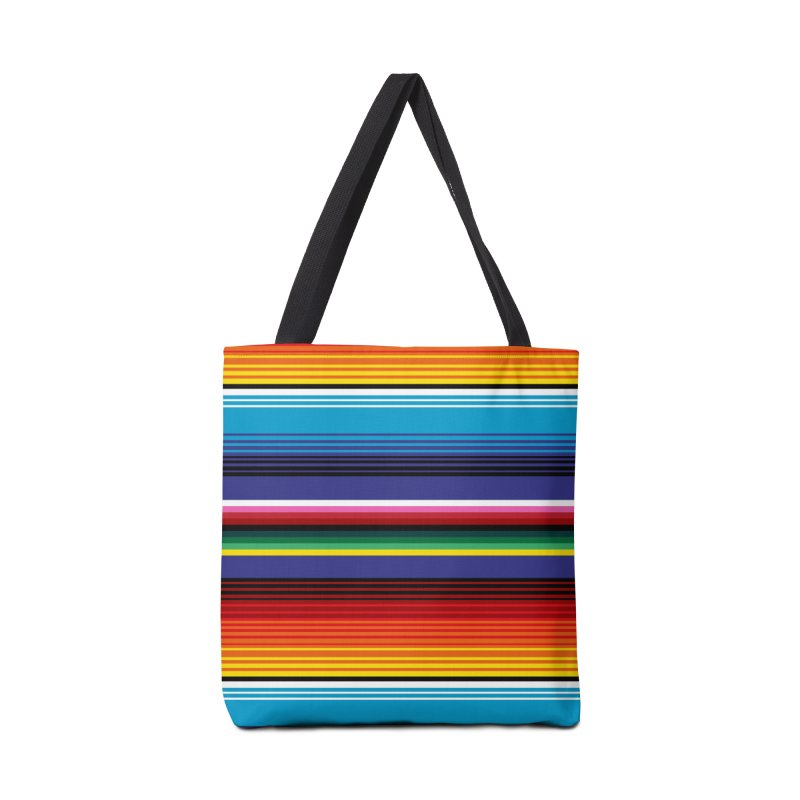 Mexican Stripes Accessories Bag by ym graphix's Artist Shop
