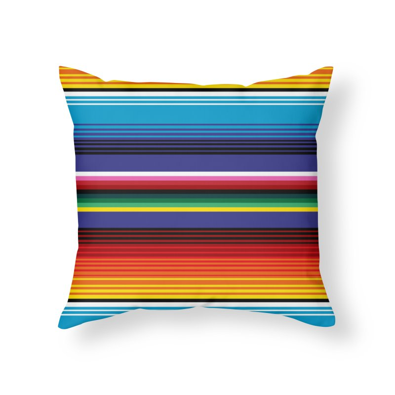 Mexican Stripes Home Throw Pillow by ym graphix's Artist Shop