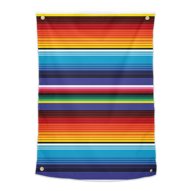 Mexican Stripes Home Tapestry by ym graphix's Artist Shop