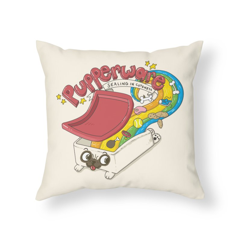 Pupperware V2 Home Throw Pillow by YNC