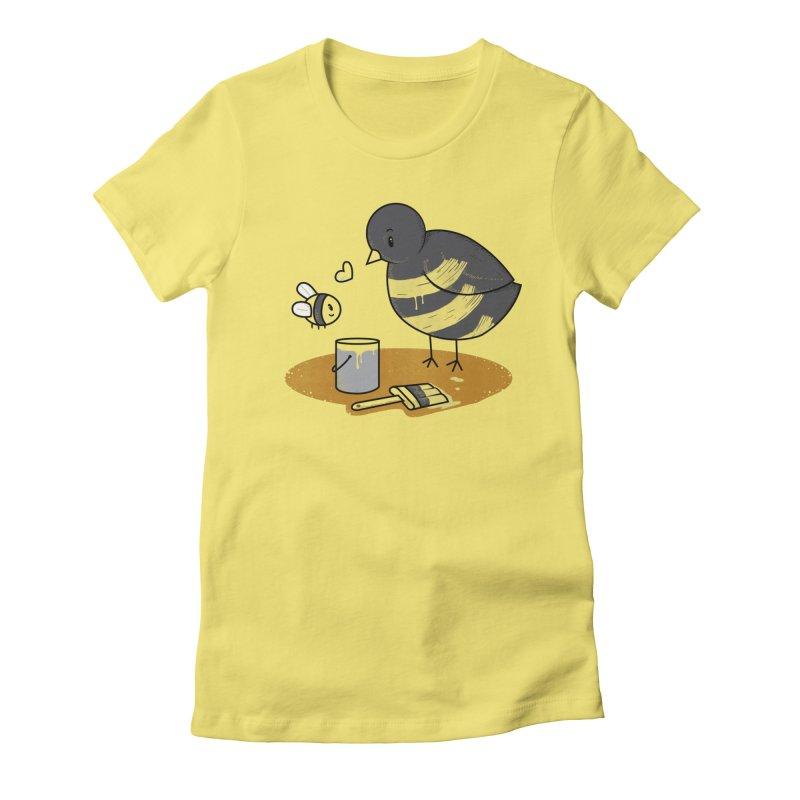 A Bird and a Bee Women's Fitted T-Shirt by YNC
