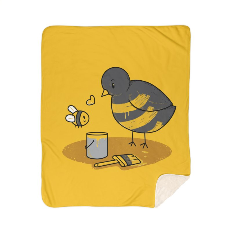A Bird and a Bee Home Sherpa Blanket Blanket by YNC