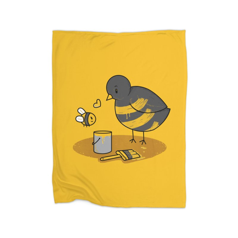 A Bird and a Bee Home Fleece Blanket Blanket by YNC