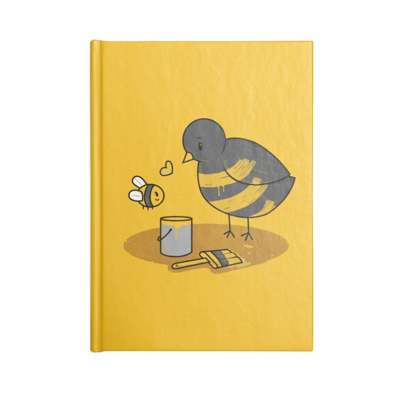 A Bird and a Bee Accessories Blank Journal Notebook by YNC