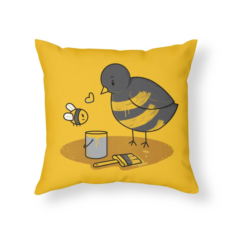 A Bird and a Bee Home Throw Pillow by YNC