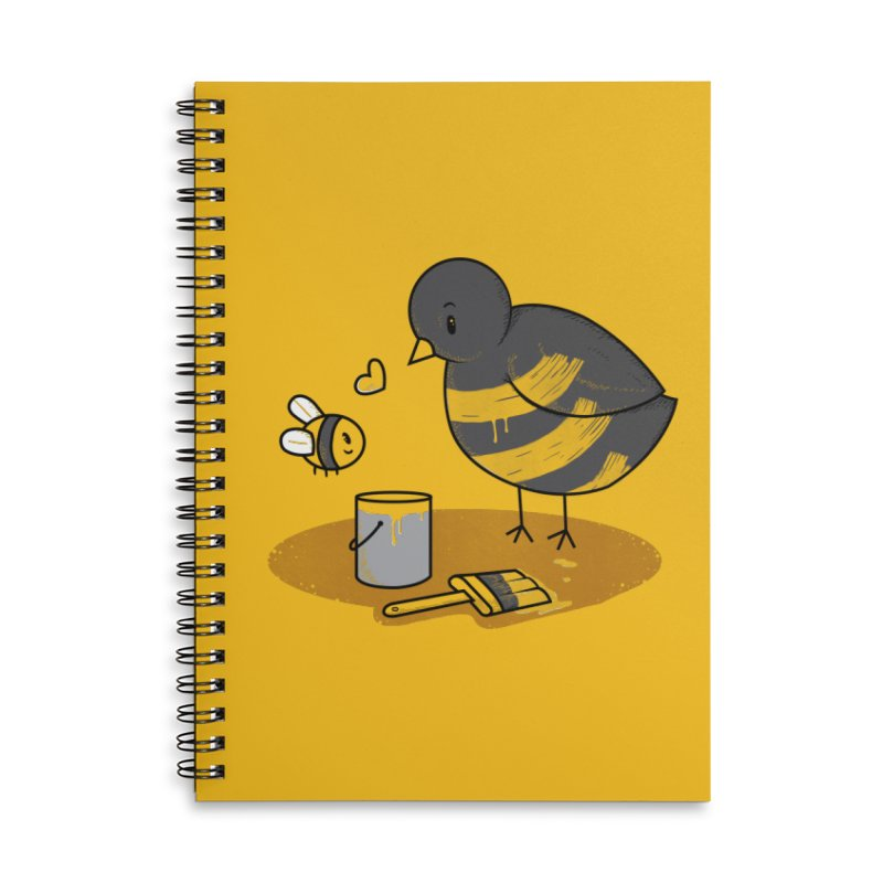 A Bird and a Bee Accessories Lined Spiral Notebook by YNC