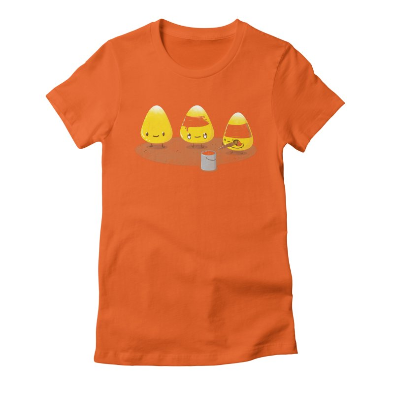 Candy Corn Women's Fitted T-Shirt by YNC