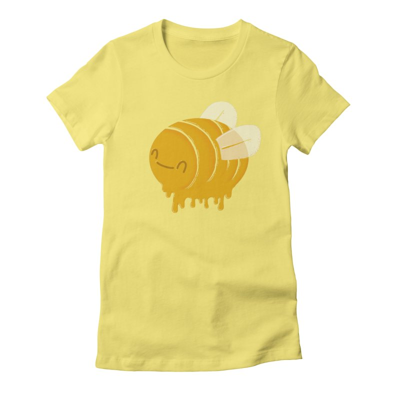 Honey Bee Women's Fitted T-Shirt by YNC