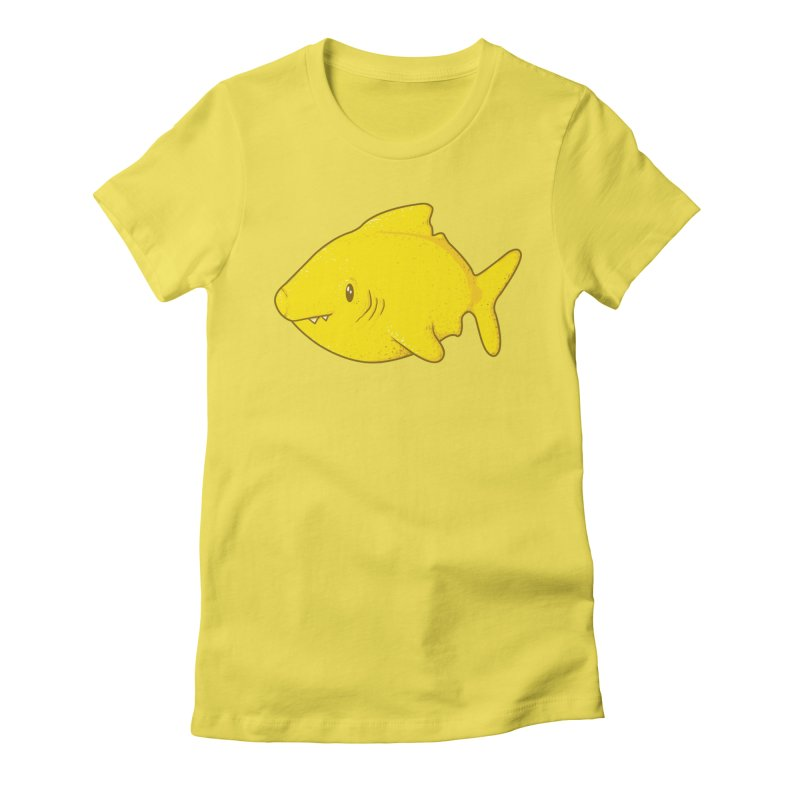 Lemon Shark Women's Fitted T-Shirt by YNC
