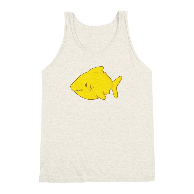 Lemon Shark Men's Triblend Tank by YNC